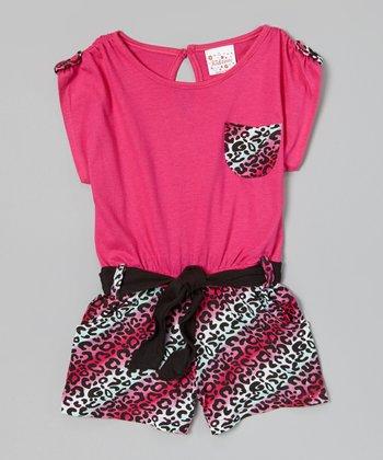 Fuchsia Leopard Pocket Romper - Infant, Toddler & Girls