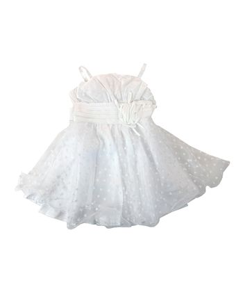Paulinie White Heart Tulle Dress - Toddler & Girls