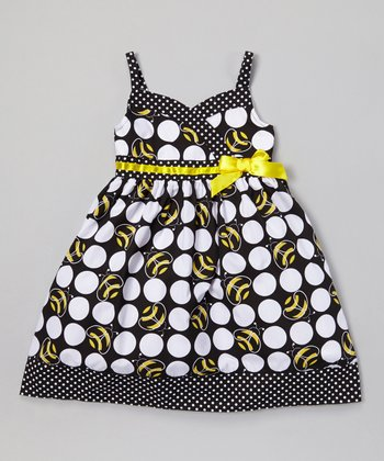 Black & Yellow Bees A-Line Dress - Infant, Toddler & Girls