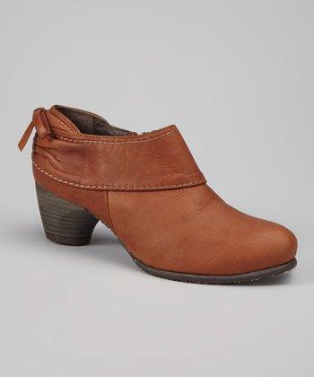 Antia Shoes Cognac Leather Anita Bootie