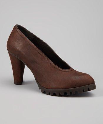 Antia Shoes Cognac Leather Gaby Pump