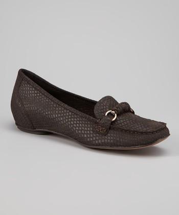 Antia Shoes Mocha Snakeskin Beatriz Loafer