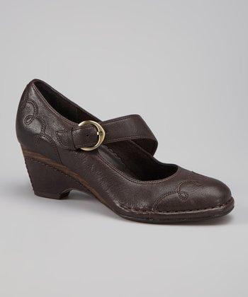 Antia Shoes Mocha Leather Renee Mary Jane