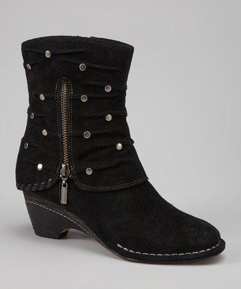 Antia Shoes Black Suede Rita Boot
