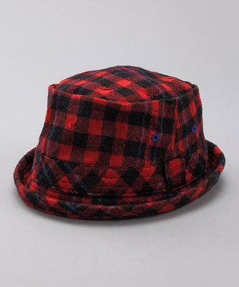 Red Plaid Fedora