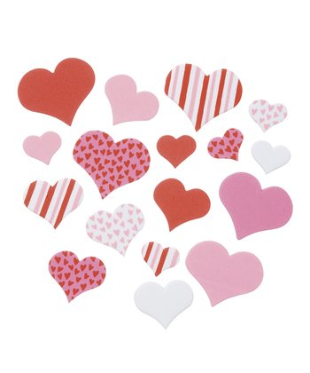 Foam Heart Sticker Set