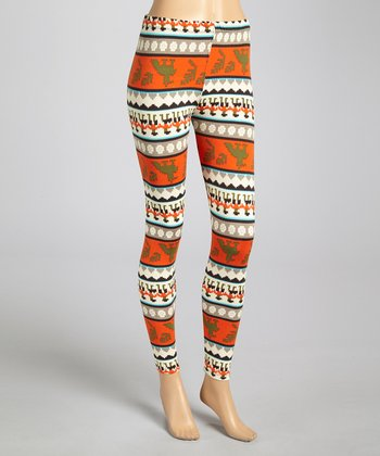 Olive & Orange Tapestry Leggings