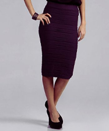 Plum Pencil Skirt - Women