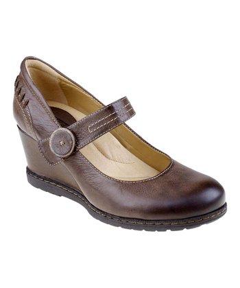 Brown Northstar Leather Wedge