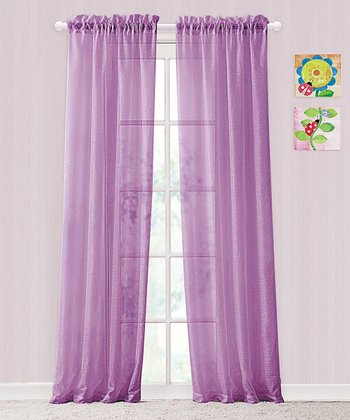 Purple Colette Rod Pocket Panel - Set of Two