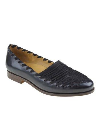 Black Fontana Leather Loafer