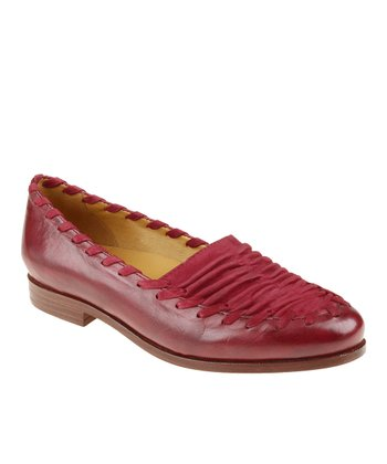 Deep Red Fontana Leather Loafer