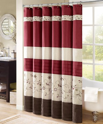 Red Racquelle Shower Curtain