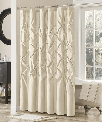 Ivory Dycus Shower Curtain