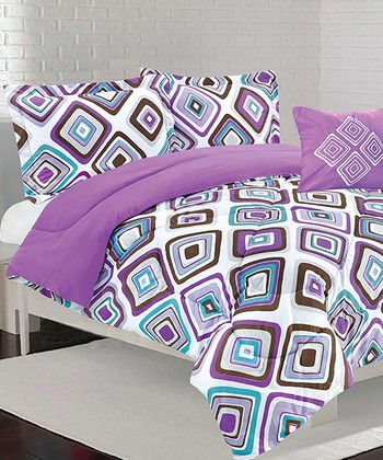 Purple Santana Comforter Set