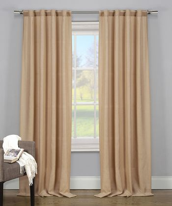 Wheat Lena Thermal Curtain Panel - Set of Two