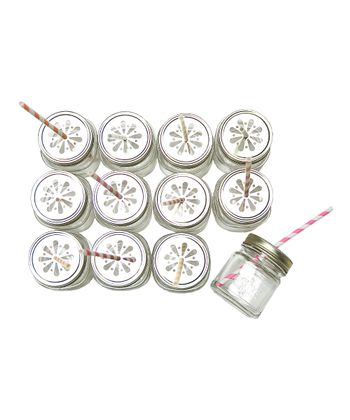 Mason Jar Sipper - Set of 12