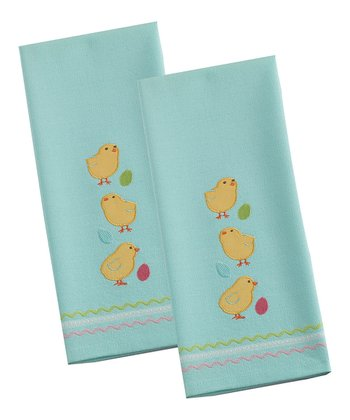 Easter Chicks Dish Towel - Set of Two