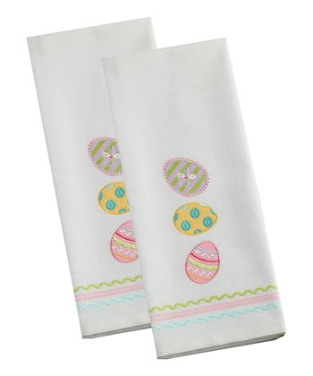 Easter Eggs Dish Towel - Set of Two