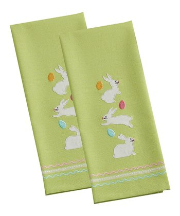 Easter Bunnies Dish Towel - Set of Two