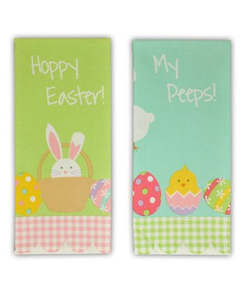 'Happy Easter' Dish Towel Set