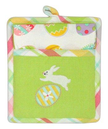 Easter Pot Holder & Dish Towel Gift Set