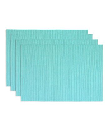 Blue Frosting Place Mat - Set of Four