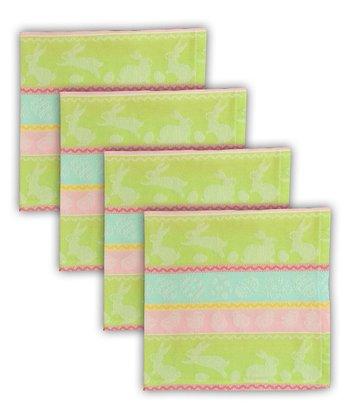 Spring Hop Jacquard Napkin - Set of Four