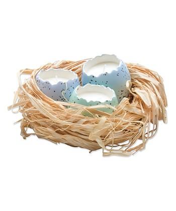 Cracked Egg Candle & Nest Set