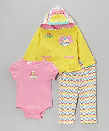 Weeplay Kids Teal 'Varsity Spirit' Puffer Vest Set - Infant
