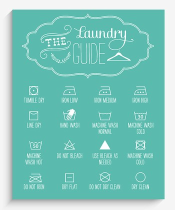 Blue Laundry Guide Wall Art