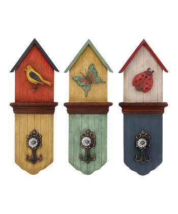 Birdhouse Wall Hook Set
