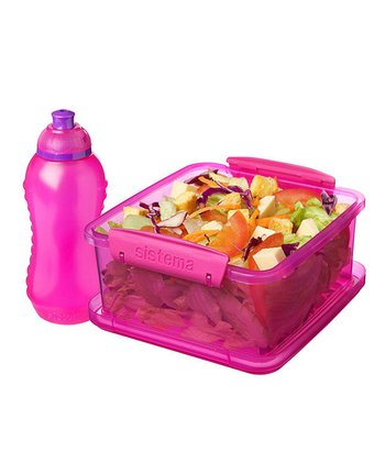 Pink Lunch Pack & Bottle