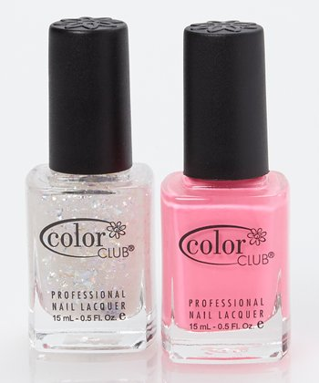 Modern Pink & Covered in Diamonds Nail Polish Set