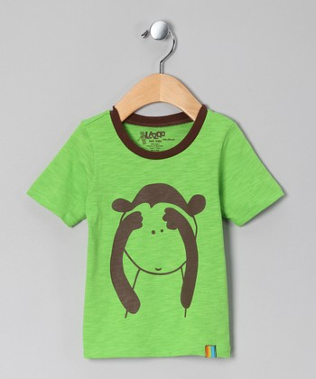 Green Monkey Tee - Infant & Toddler