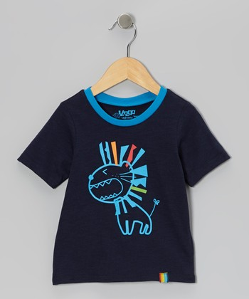 Navy Funny Monster Tee - Infant & Toddler