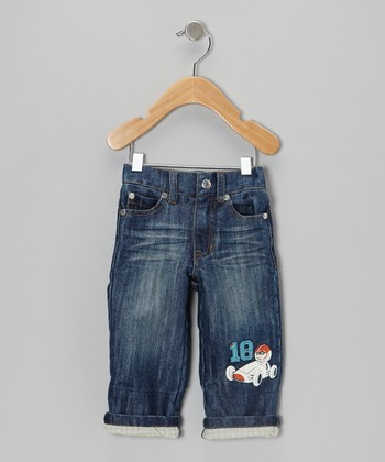 Medium Wash Racecar Jeans - Infant & Toddler