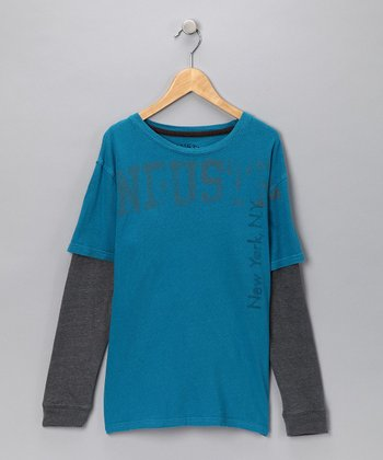 Industry 9 Teal Slush Layered Tee - Boys