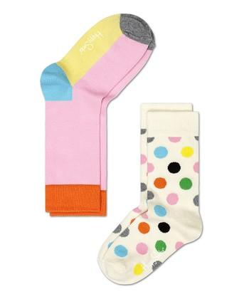 Happy Socks Pink & Yellow Anklet Socks Set - Infant, Toddler & Kids