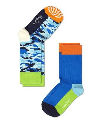 Happy Socks Blue Camo Anklet Socks Set - Infant, Toddler & Kids
