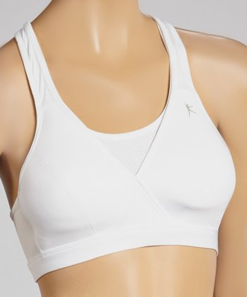 White Contouring Sports Bra - Women & Plus
