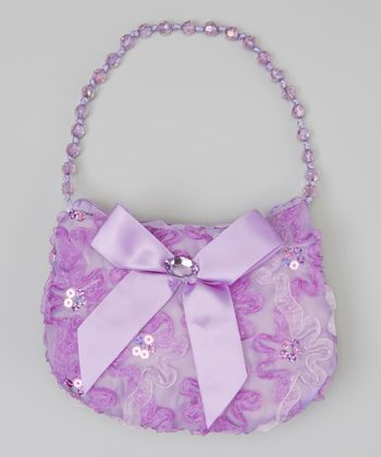Purple Sequin Flower Purse