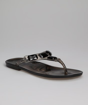 Smoke Jewel Beca Jelly Sandal