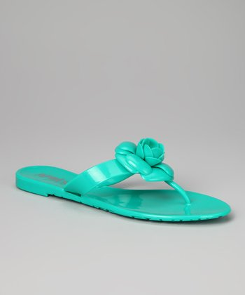 Green Mandy Jelly Sandal