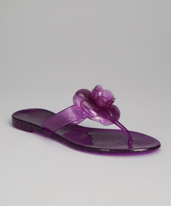 Purple Mandy Jelly Sandal