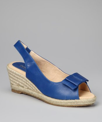 Blue Bow Tie Espadrille - Women