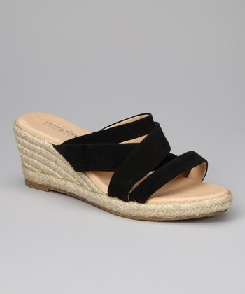 Black Strappy Espadrille - Women