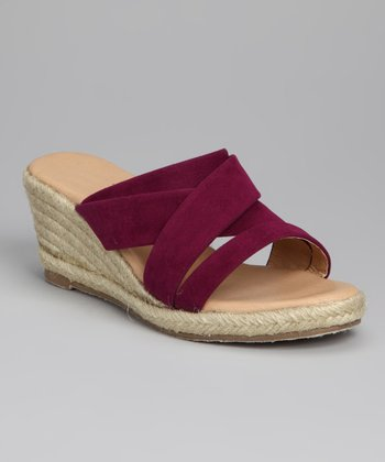 Purple Strappy Espadrille - Women