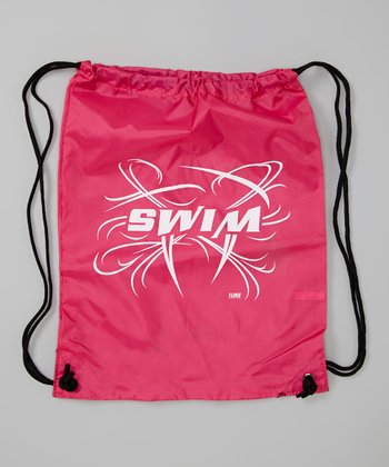 Pink 'Swim' Drawstring Backpack