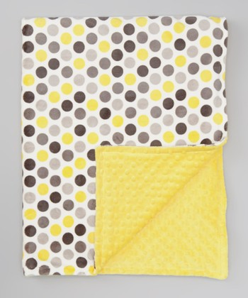 Lemon & Gray Mod Dot Toddler Blanket